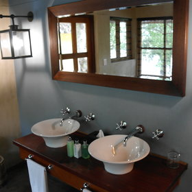 All chalets have an en-suite bathroom with his and hers basins...