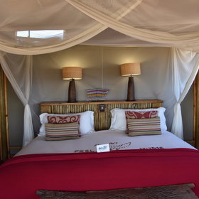 Its ten tents are simple, but spacious with comfortable twin or double beds...