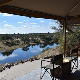 ...with private views of the water below and the national park on the opposite bank.