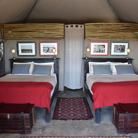 Inside the tents are very comfortable...