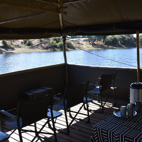 ...with plenty of space to relax and see what comes to drink at the river