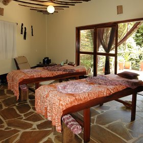 You can indulge in a massage at the tranquil spa...