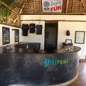 Very much part of the lodge is the dive centre - 'Dive Point'.