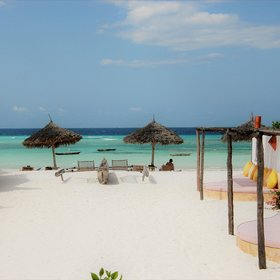 Around the corner from Sunshine Marine Lodge is Muyuni Beach...