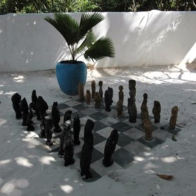 ... and there is even a chess set with prawns as pawns.
