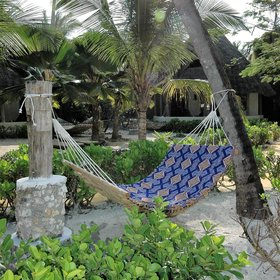 ... relax in one of the enticing hammocks ...
