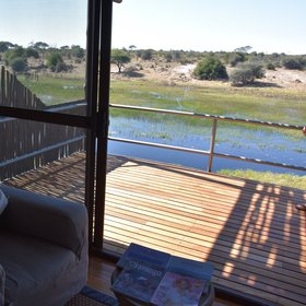 Each room has views of the opposite river bank where wildlife comes down to drink.