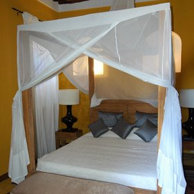 The rooms all have air conditioning and mosquito nets to ensure a comfortable stay.