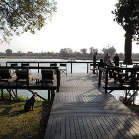 There is also a terrace raised up on stilts, where you can sit and watch the birdlife…