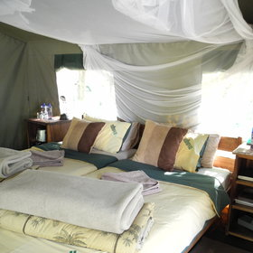 All are equipped with twin beds, mosquito nets and...