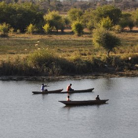 Activities include river cruises on the Kavango river.