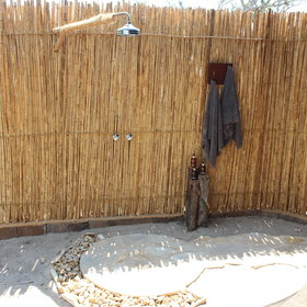 ...and a lovely outdoor shower too.