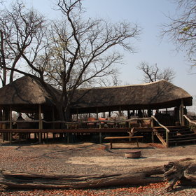 and is tucked away in mopane woodland