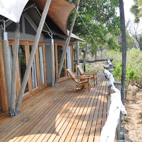 ...and a private verandah with a view of the floodplains.