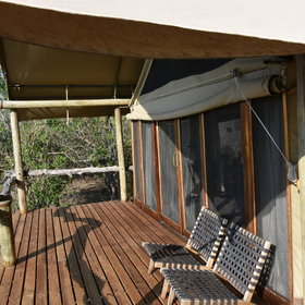 Each tented chalet has its own verandah deck to enjoy the great views.