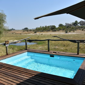 Down a few steps from the main area is a secluded and inviting plunge pool...