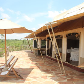 The suite tents comprise two regular tents…