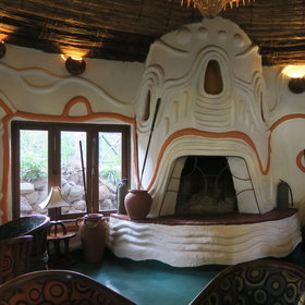 The Lake Manyara Serena has large public areas with eye-catching design.