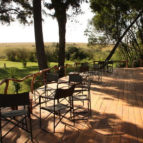 and a large deck with views over the Talek River.