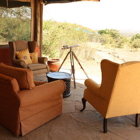 with different areas including a telescope to spot game from the comfort of an armchair.