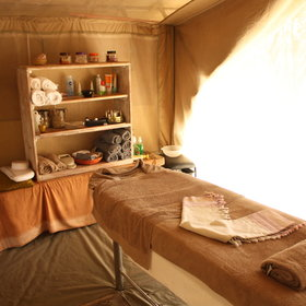 ...and a little spa tent for relaxing treatments.