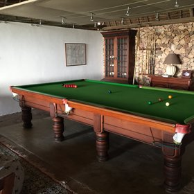 The staff are often keen for a game of pool.
