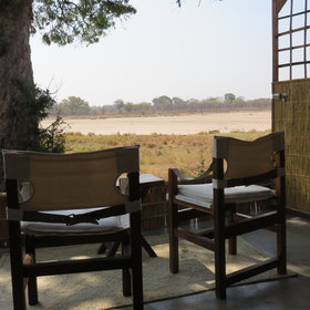 ... where locally made chairs offer a spot to relax and enjoy the view.