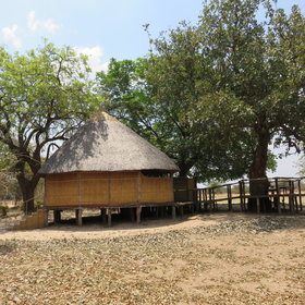 Nsolo Bushcamp has four chalets all built on timber platforms.