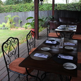 ... meals can also be taken on the wooden terrace.