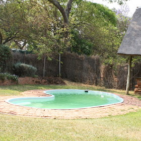 There's a small pool too, perfect for the hotter months.