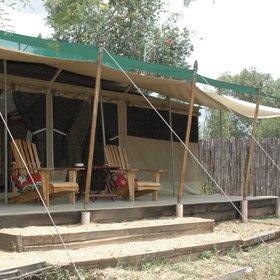 The tents at Old Pejeta Bushcamp are simple but spacious...