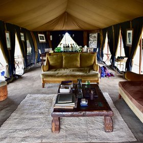 Serian Serengeti is a mobile tented camp...