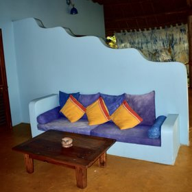 The baraza-style sofas on the verandas are a good place to relax while enjoying the sea view...