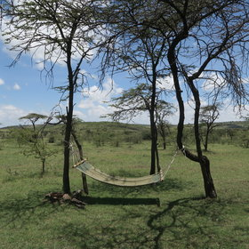 Outside each tent is a hammock strung between two trees, a perfect spot to relax in the afternoon.
