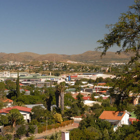 ...on the top of a hill overlooking the city of Windhoek.