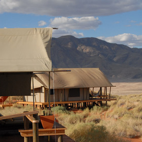 Wolwedans Dune Camp's beautiful location...