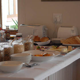 ...which consists of a varied buffet...