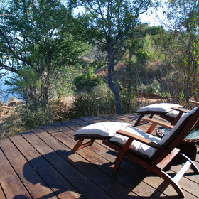 ... with its own deck looking out over the Zambezi...