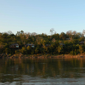 ...with a lovely view over the Rufiji River.