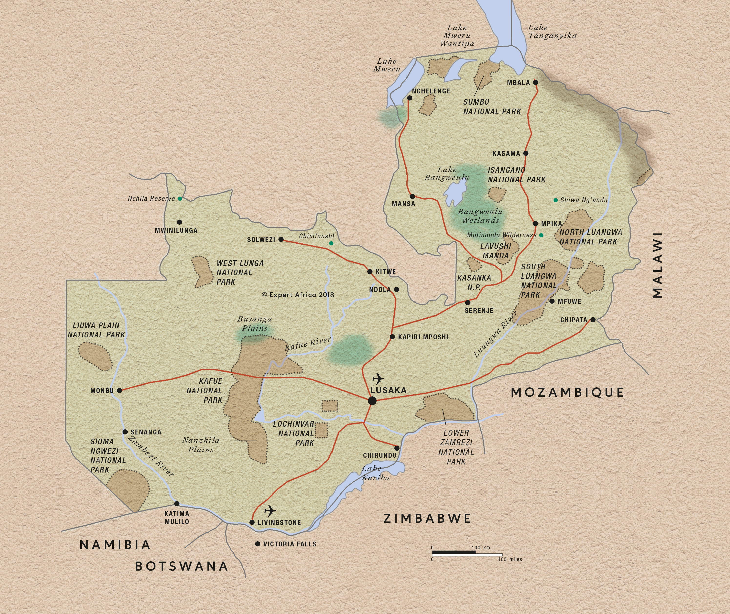 Picture of: Map Of Zambia C Expert Africa
