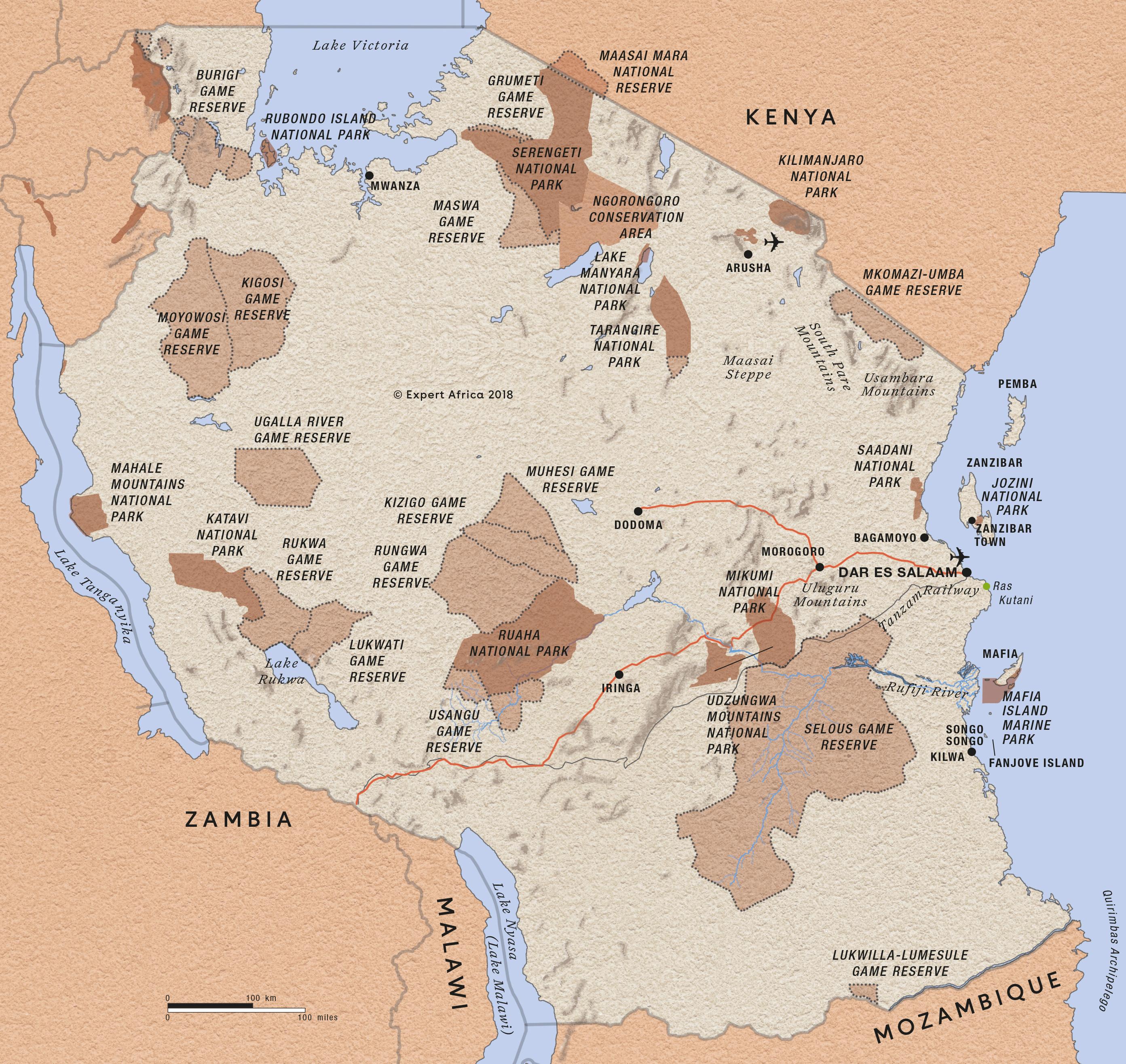 Image of: Map Of Tanzania C Expert Africa