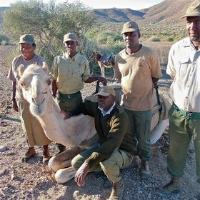 Save the Rhino Trust's mounted patrol team covers an area of 7,520 km².