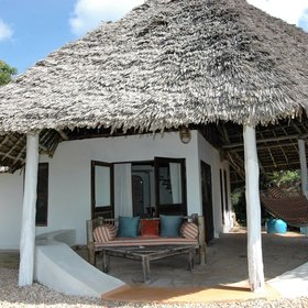 Matemwe has 12 lovely whitewashed cottages...