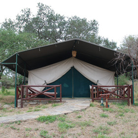 The tents are set among the kopjes and are spacious and comfortable.