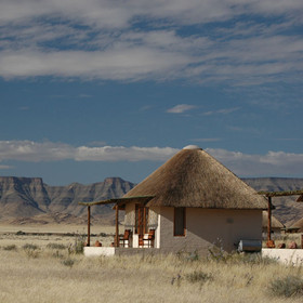 Desert Homestead has 20 thatched chalets...