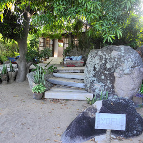 <b>Yofu House</b> is right on Kaya Mawa's main beach …